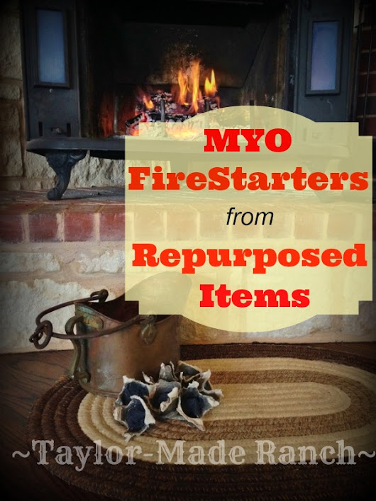 MYO FireStarters With Items You Already Have At Home