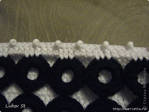 Handbag of the rings with beads.  Crochet without interrupting the thread (22) (520x390, 116Kb)