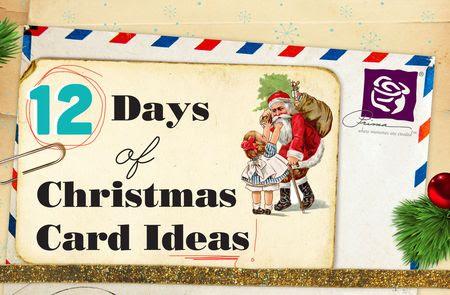 12 days of xmas cards