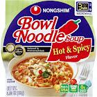 NongShim Bowl Noodle Soup, Hot & Spicy - 3.03 oz bowl