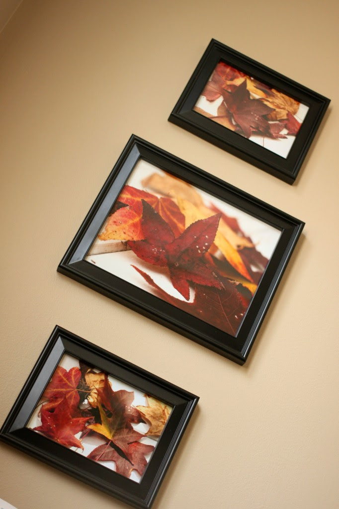 Use photos for fall decorating
