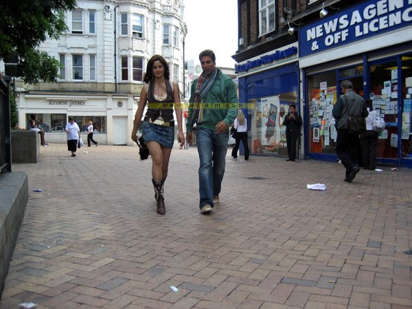 On The Sets of Namaste London, Katrina Kaif, Akshay Kumar