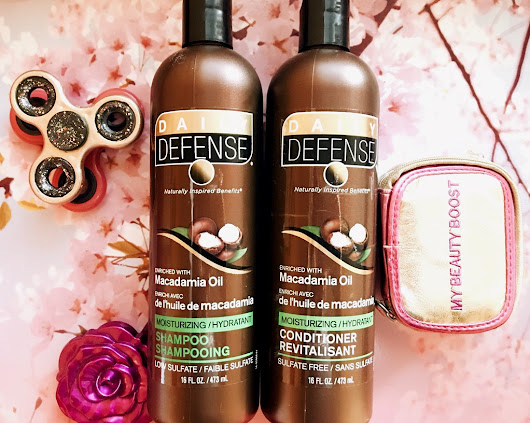 Dollar Tree Beauty Test: Daily Defense Macadamia Oil Shampoo and Conditioner