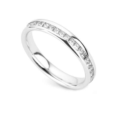 Wedding Ring with Diamonds all the way Around