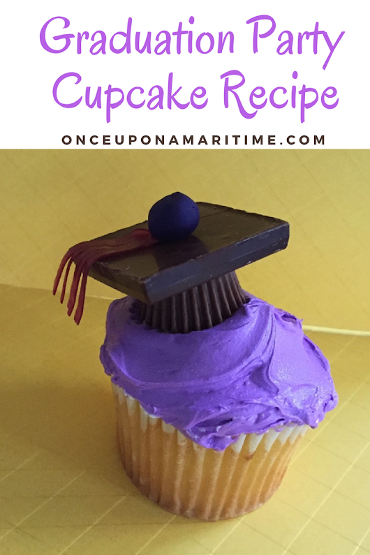 Planning A Graduation Party + Adorable Grad Party Cupcake Recipe - Once Upon A Maritime
