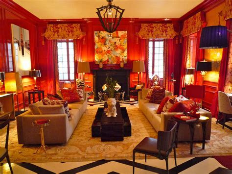 chinese new year. red walls.   Rooms that Inspire Me