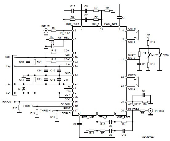 200 watt power amplifier circuit