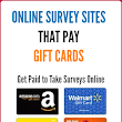 Best Online Survey sites that Pay Amazon/Store Gift Cards