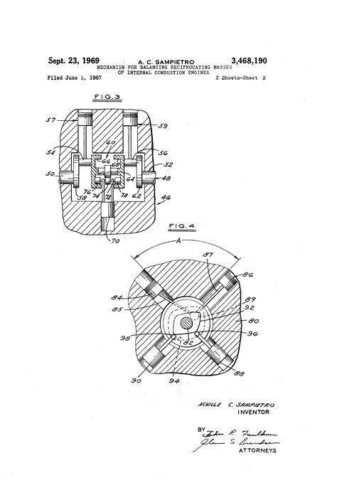 Patent US3468190 - Mechanism for balancing reciprocating