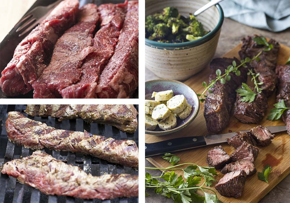 Grilled Sirloin Tip Steaks with Shallot Butter - Just a ...