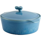 Ayesha Curry Home Collection Stoneware Round Casserole 2.5qt Blue