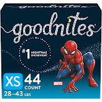 GoodNites Boys' Nighttime Bedwetting Underwear - XS - 44ct