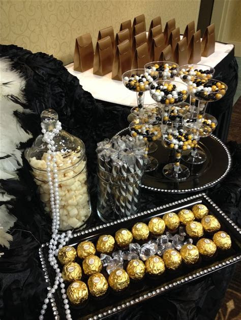 Black, Gold and Ivory candy buffet   Sweet Girls Candy