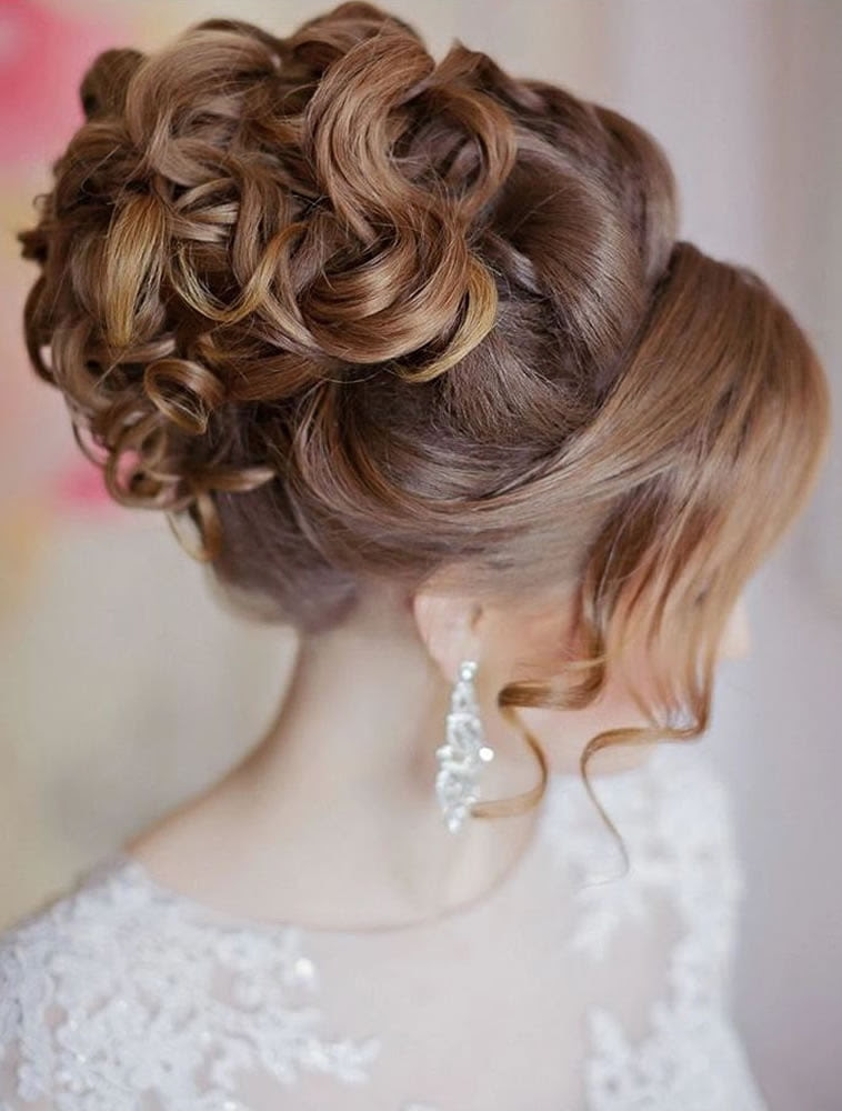 2019 Wedding  Updo  Hairstyles  for Brides Hair Colors for