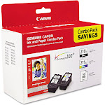 Canon PG 210 XL/CL-211 XL Combo Pack with Photo Glossy Ink tank / paper kit, Cyan/Magenta/Yellow/Black