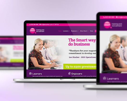 Smart Training & Receuitment mobile responsive website