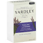 Yardley London Bath Bar, Naturally Moisturizing, English Lavender - 4 pack, 4.25 oz bars