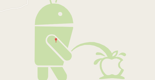 Google Mapy: Android močí na Apple