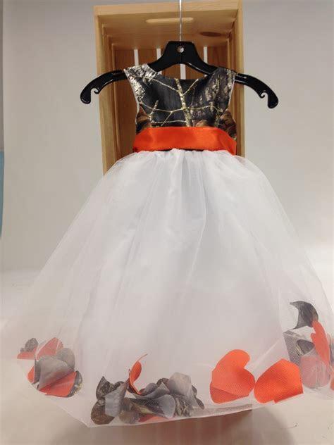 "5602 ""Morgan"" Camo and Petal Flower girl dress Camouflage"