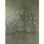 Southern Enterprises Wall Sculpture Art, Gemstone Forest, Bronze