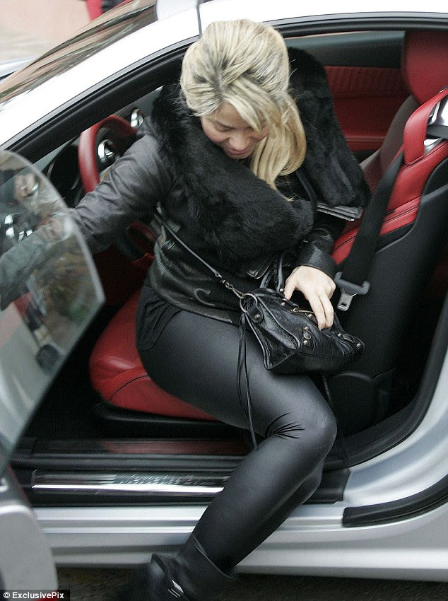 Yummy mummy-to-be: Shakira is never one to shy away from a bit of fashionable leather, even when she's pregnant