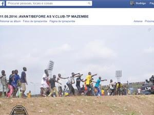 Imagens de briga em estádio divulgada na página do Mazembe no Facebook (Foto: Reprodução / Facebook)