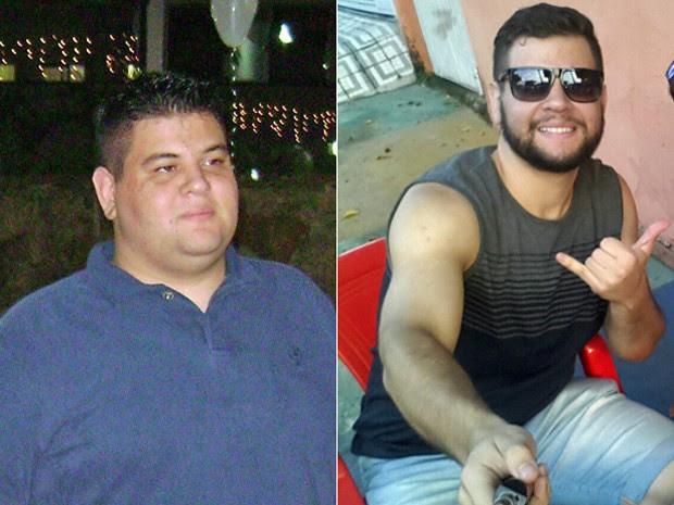 Depois de cerca de um ano, ele agora continua na luta para atingir a meta de 80 kg (Foto: Arquivo pessoal/Guilherme Mascarenhas)