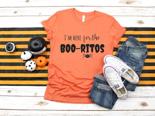 Here For The Boo-ritos T-shirt Halloween tee Halloween Boo | Etsy
