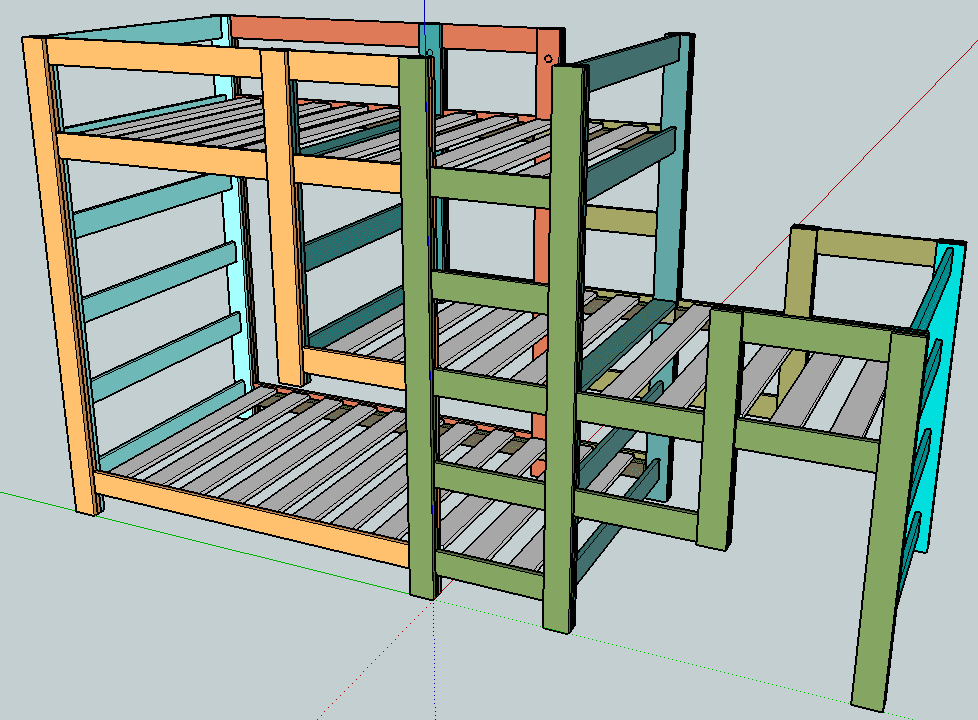 Triple Decker Bunk Beds. Affordable Jeromes Bunk Beds Classy Best Images About Zachs Bedroom