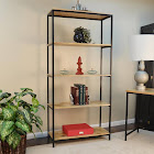 Carolina Chair & Table Brayden Natural & Black Tall Bookcase