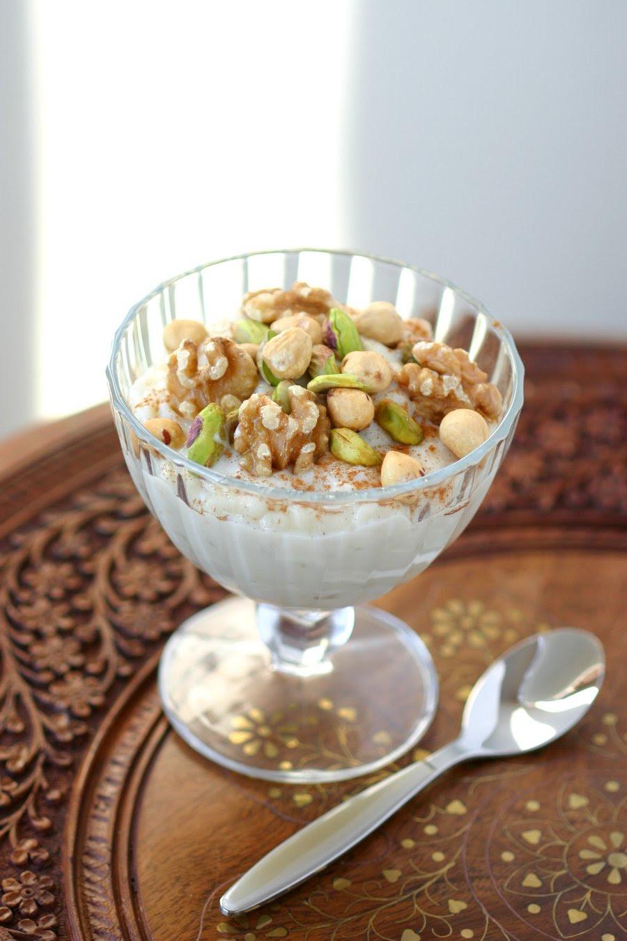 Vegan Middle Eastern Rice Pudding | Lands & Flavors