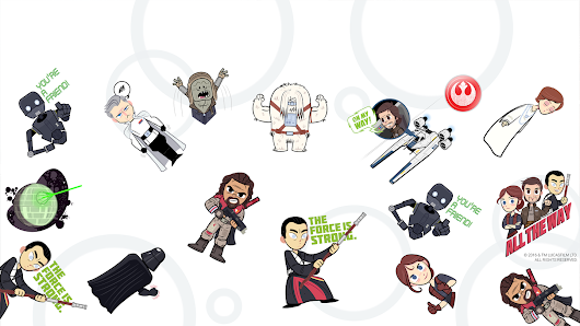 New Google Allo stickers that will help you get ready for Rogue One: A Star Wars Story