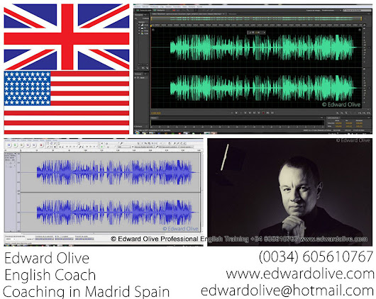 Edward Olive Professional English training British Business school in Madrid Spain teacher for company intensive courses classes voice accent pronunciation presentations public speaking job interviews and Skype