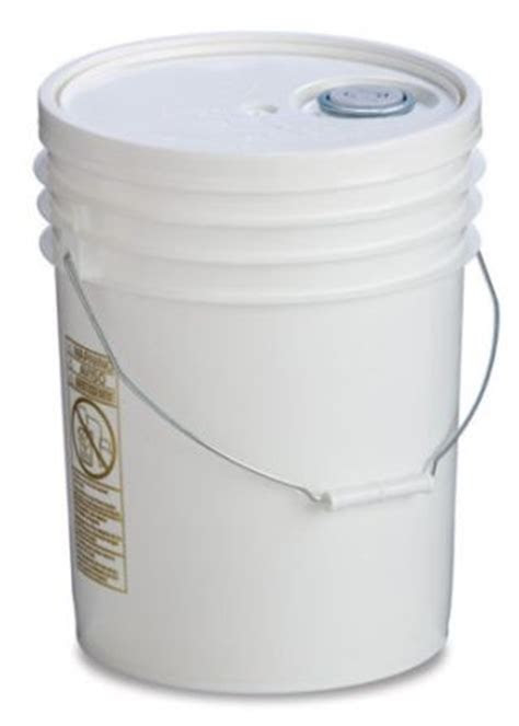 food grade plastic bucket  lid  gallon capacity