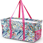 """Zodaca Wireframe Utility Metal Aluminum Frame Market Tote Carry Basket for Grocery Shopping (Size: 23"""" L x 11"""" W x 12"""" H) - Multicolor Paisley"""