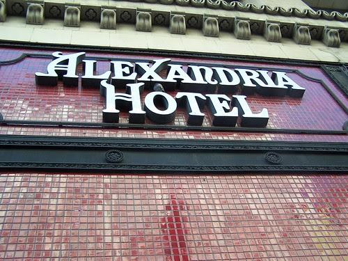 alexandria hotel sign
