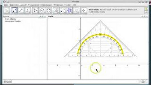 Wie man in GeoGebra ein Geodreieck als Bild einfügen kann, um damit ...
