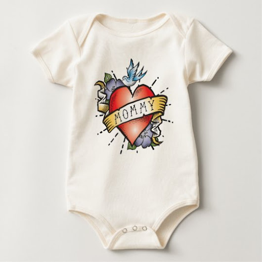 Mommy Tattoo Baby Bodysuit
