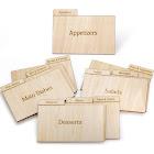 Prosumer's Choice Real Wood Recipe Card Specialty Organizer, 3x5 inch