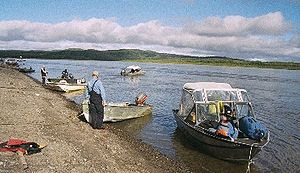 English: This is a picture of the Kuskokwim ri...