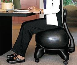 Amazon.com : Gaiam Balance Ball Chair, Purple : Exercise Balls ...