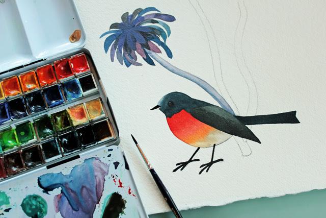 Aeonium & Bird