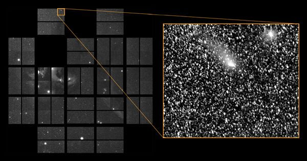 On its way towards Mars, Comet Siding Spring passed through the field of view of NASA's Kepler spacecraft on October 20, 2014.