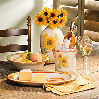 Sunflower Dishes, Home Decor Free Decorating, Free Decorating ...
