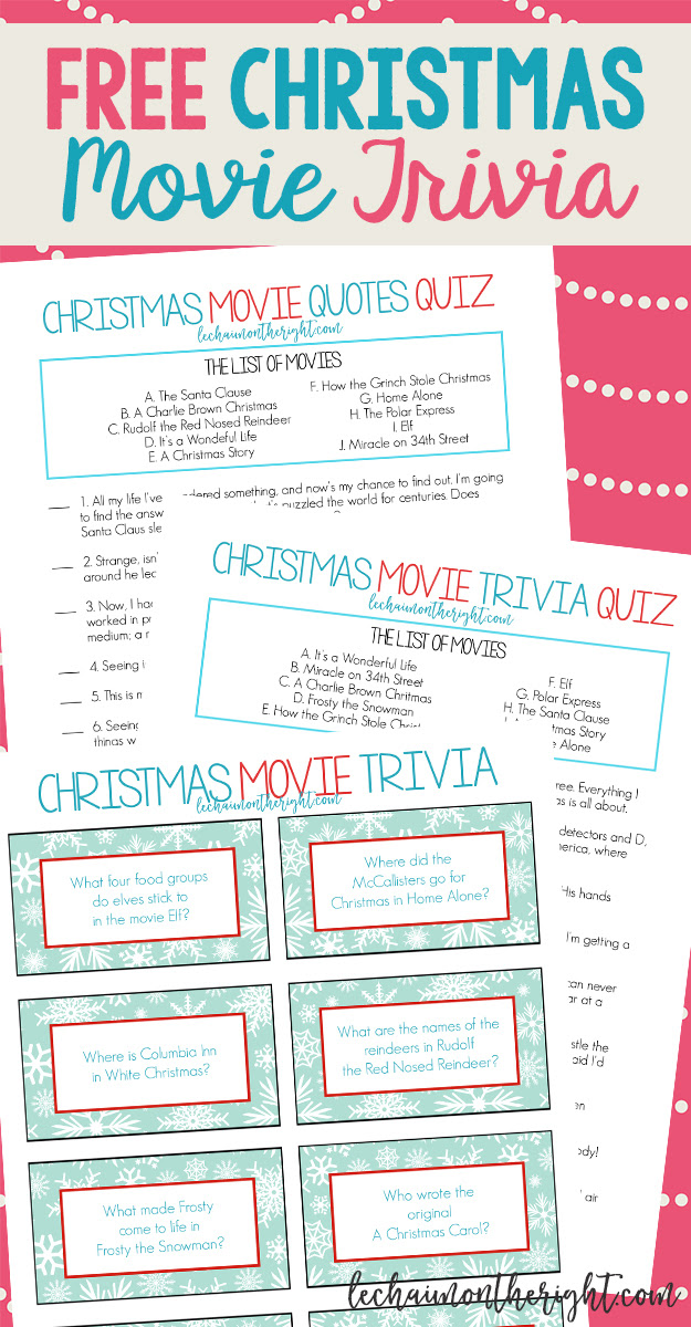HD Exclusive Christmas Movie Trivia Questions And Answers Printable - funny jokes