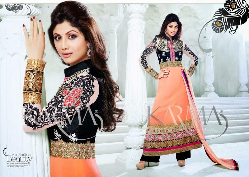 Shilpa-Shetty-Bollywood-Indian-Wear-Ankle-Length-Fancy-Anarkali-Frock-New-Fashion-Dress-9