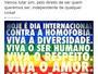Dia Internacional contra a Homofobia é lembrado nas redes sociais