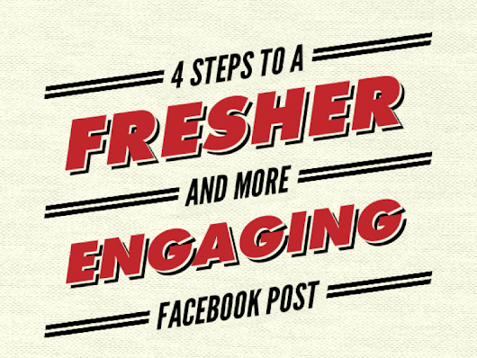 4 Steps to a Fresher and More Engaging Facebook Post