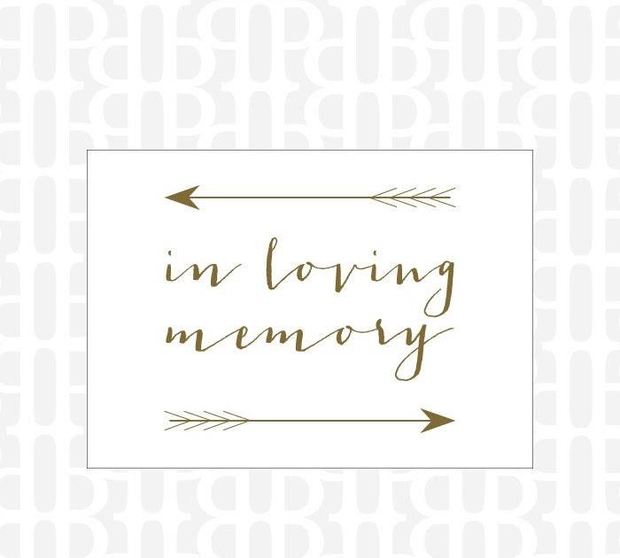 Custom Wedding Accessories In Loving Memory Sign
