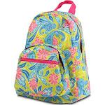 Zodaca Fashion Kids Backpack Schoolbag Small Bookbag Shoulder Children School Bag - Green/ Pink Paisley